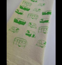 Tea Towels Green Campers Tea Towel