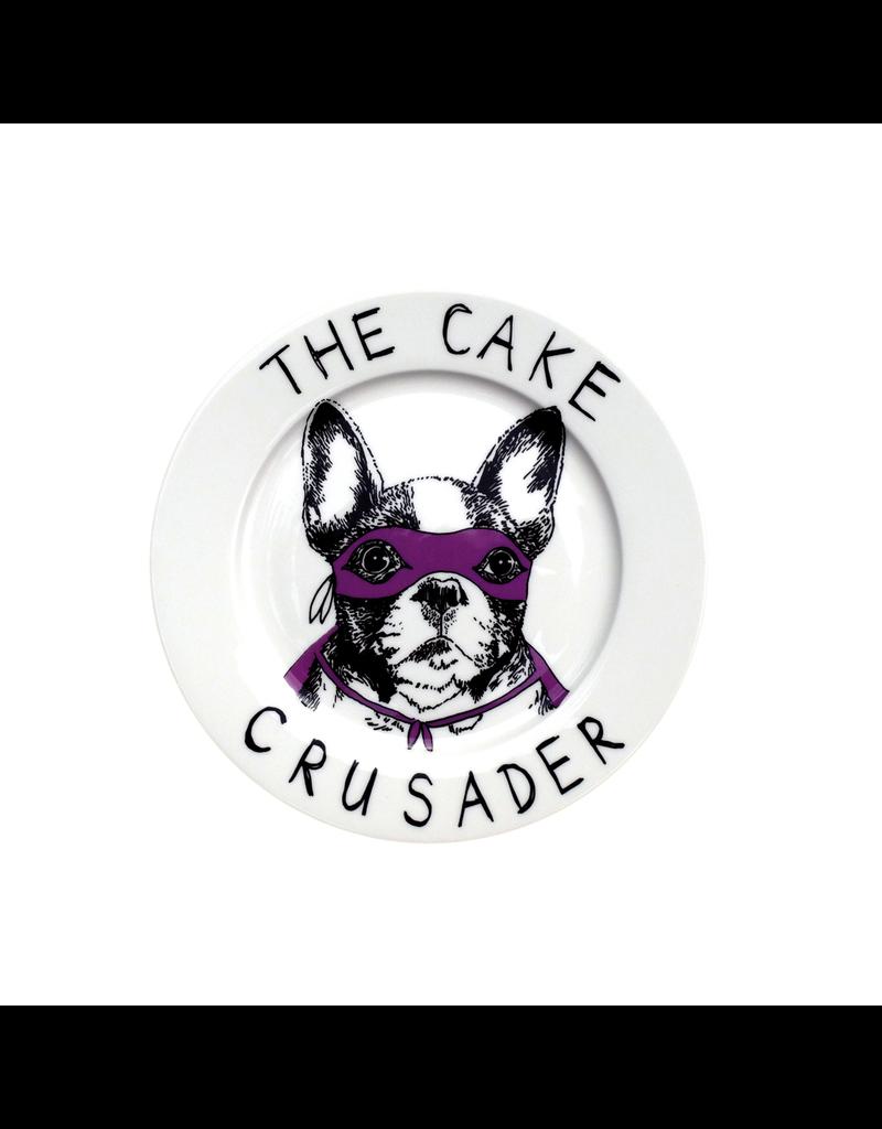Dinnerware Cake Crusader Bulldog Plate