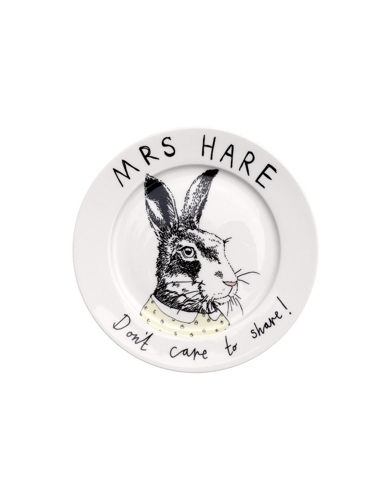 Dinnerware Mrs Hare Don't Share Plate