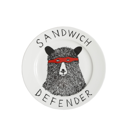 Dinnerware Sandwich Defender Bear Plate