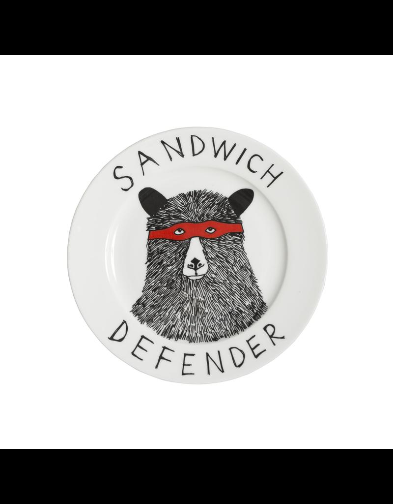 Dinnerware Sandwich Defender Bear Plate