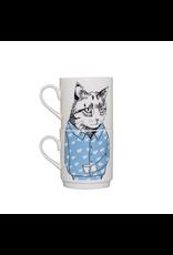 Dinnerware Cat's Pajamas Stacking Mugs