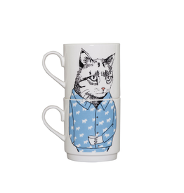 Dinnerware Cat's Pajamas Stacking Mugs