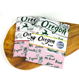 Dish Towels Oregon Retro Tea Towel