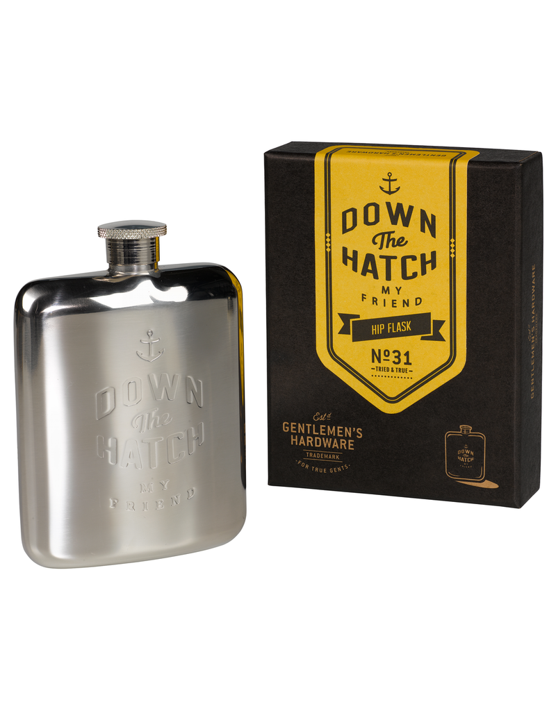Barware Down The Hatch Flask