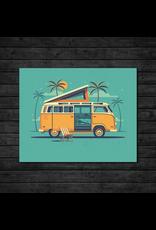 Prints Beach Camper Print
