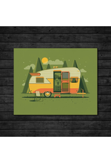 Prints Mountain Camper Print
