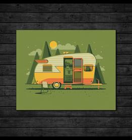 Prints Mountain Camper Print