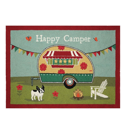 Rugs - Hooked Happy Camper Bulldog Rug