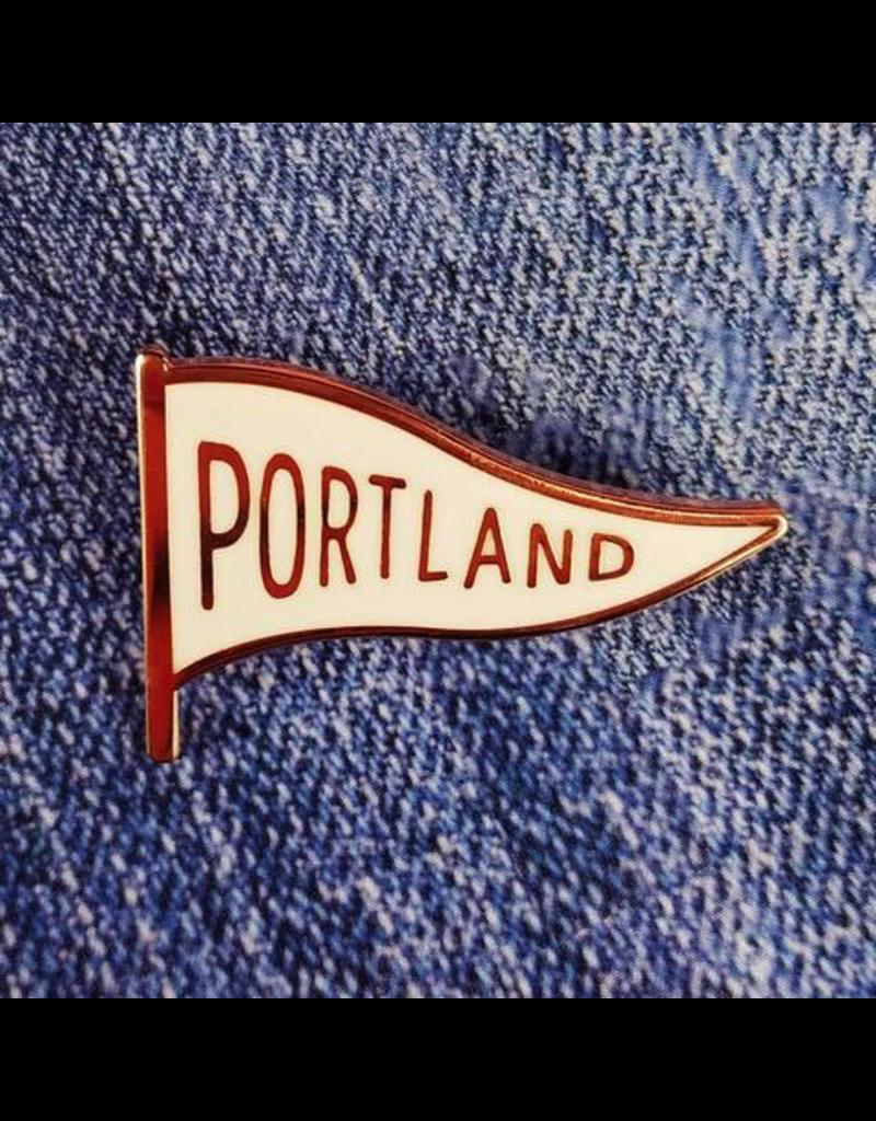 Enamel Pins Portland Pennant Enamel Pin