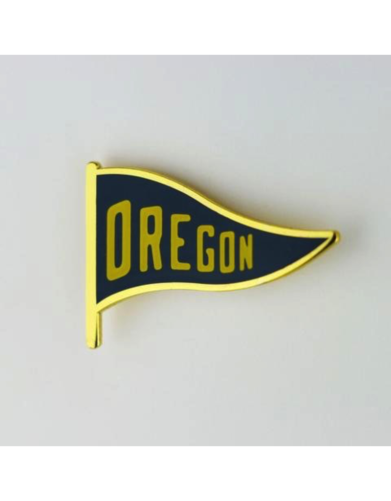 Enamel Pins Oregon Pennant Enamel Pin