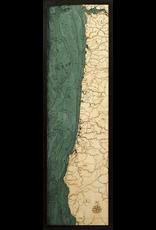 Wall Decor Oregon Coast 3D Wood Chart