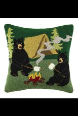 Pillows - Hooked Campfire Bears Pillow