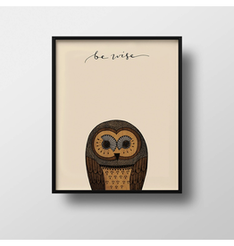 Prints Be Wise Owl Print