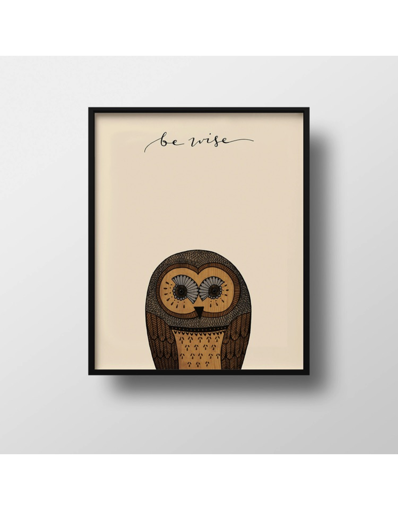 Prints Be Wise Owl Print