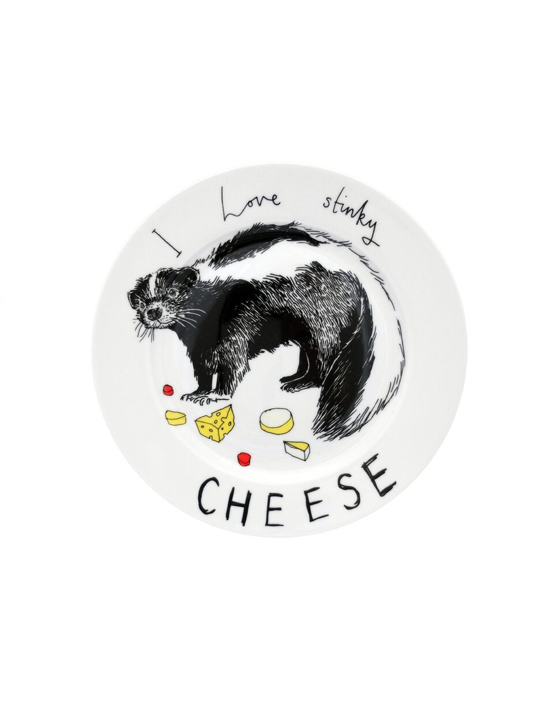 Dinnerware Love Stinky Cheese Skunk Plate