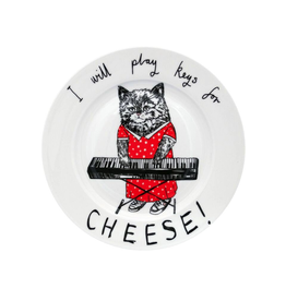 Dinnerware Play Keys For Cheese Cat Plate