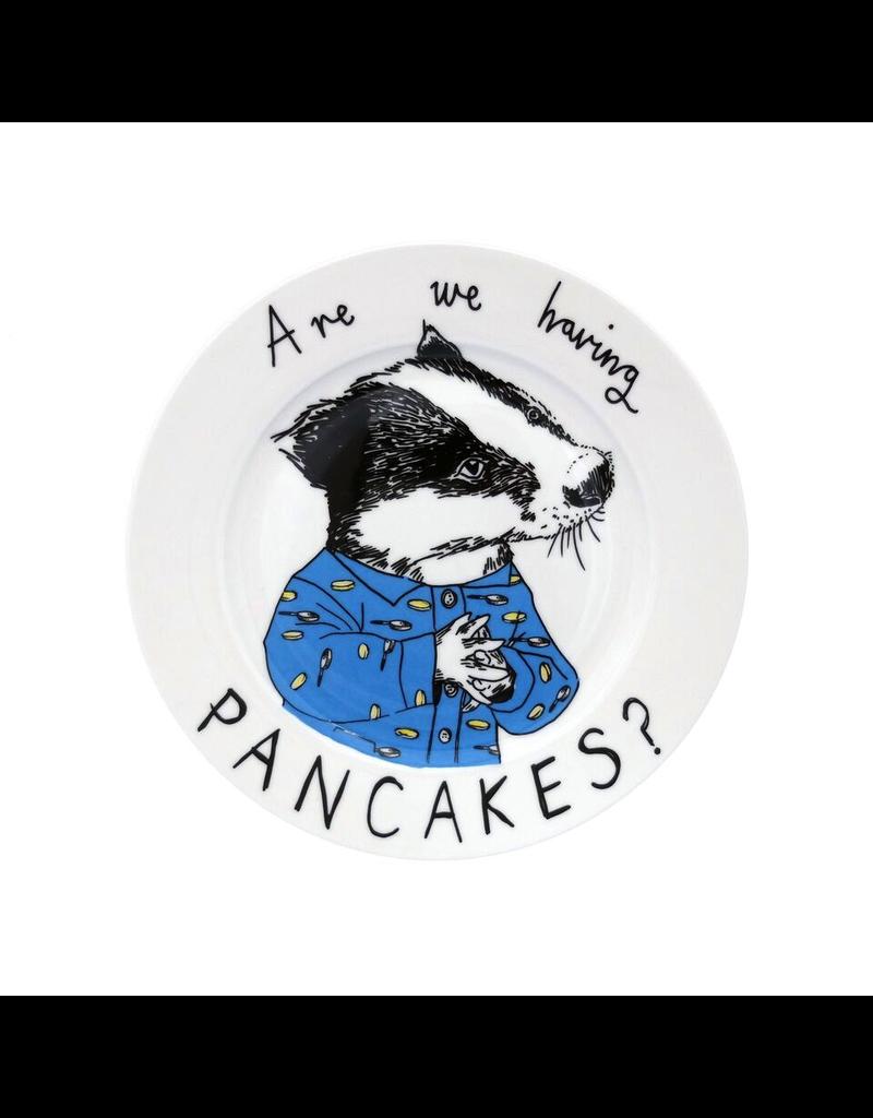 Dinnerware Having Pancakes Badger Plate