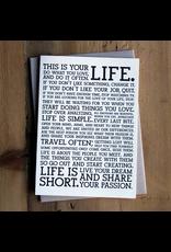 Greeting Cards Life Manifesto Card