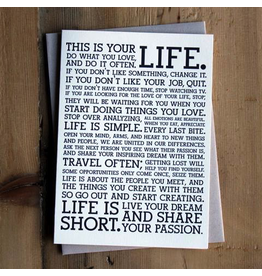 Greeting Cards Life Manifesto Card