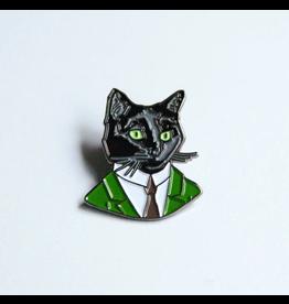 Enamel Pins Gentleman Cat Enamel Pin