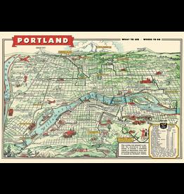 Gift Wrap Portland Map Wrap