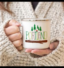 Enamelware Portland Outdoor Adventure Enamel Mug