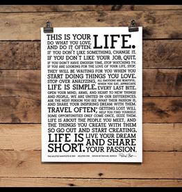 Prints Manifesto 12x16 Letterpress Print