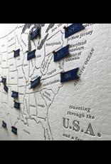 Prints USA Travel Letterpress Map