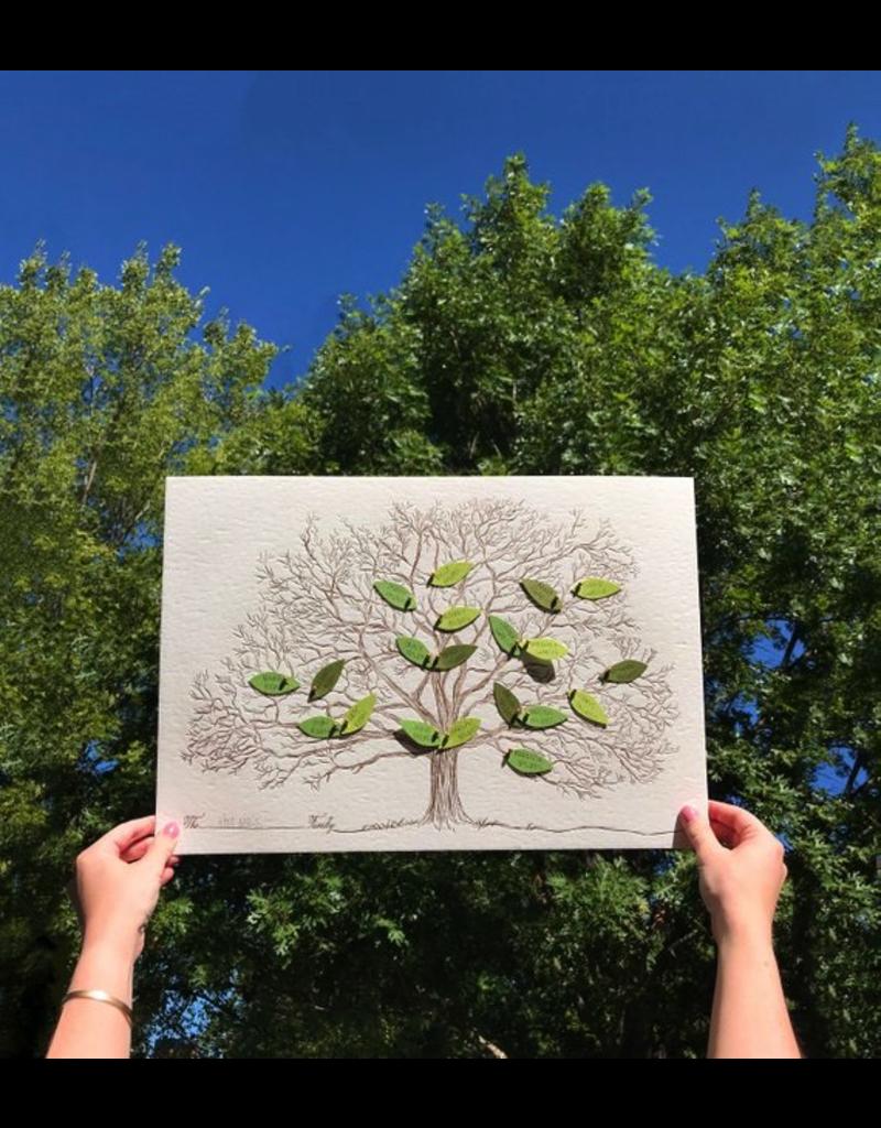 Prints Family Tree Letterpress Print