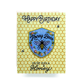Greeting Cards - Birthday Honeybee Patch Birthday Card