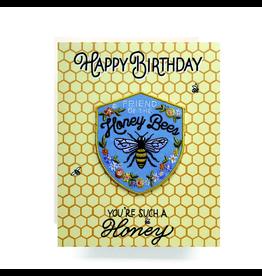 Greeting Cards - Birthday Honeybee Patch Birthday Card