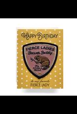 Greeting Cards - Birthday Fierce Lady Patch Birthday Card