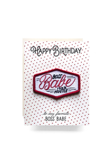Greeting Cards - Birthday Boss Babe Patch Birthday Card