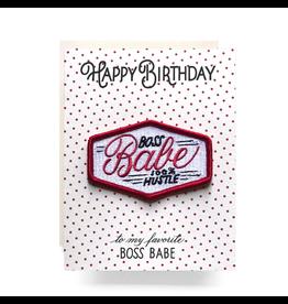Greeting Cards - Birthday Boss Babe Patch Birthday Card