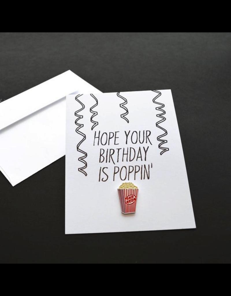 Enamel Pins Poppin' Birthday Card