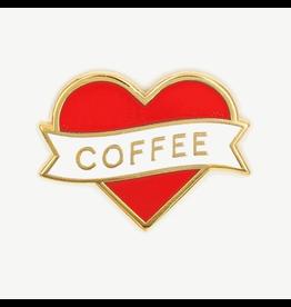 Enamel Pins Heart Coffee Enamel Pin