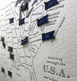 Prints USA Travel Map Refill