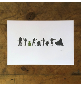 Prints Star Wars Letterpress Print