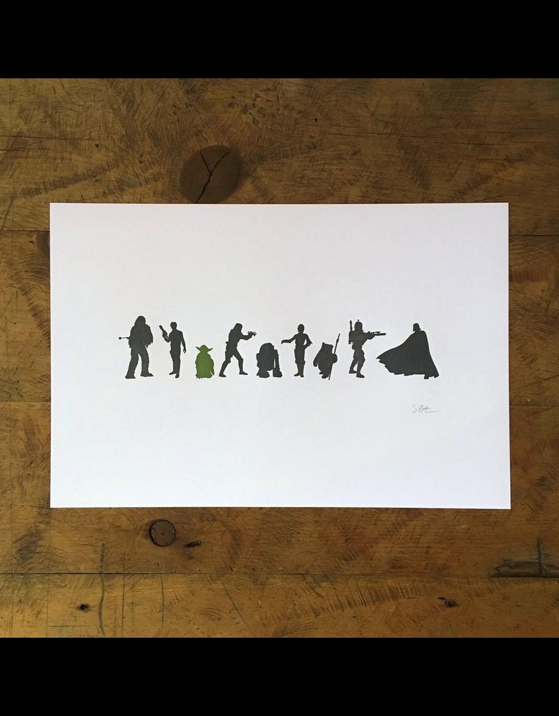 Prints Star Wars Letterpress Print