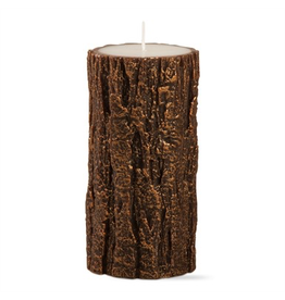 Candles - Novelty Tree Bark Tall Pillar