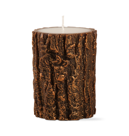 Candles - Novelty Tree Bark Short Pillar