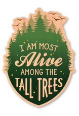 Stickers - Wood Most Alive Among The Tall Trees Wood Sticker