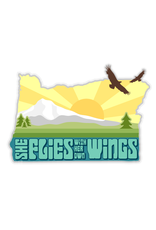 Stickers She Flies With Her Own Wings Oregon Sticker