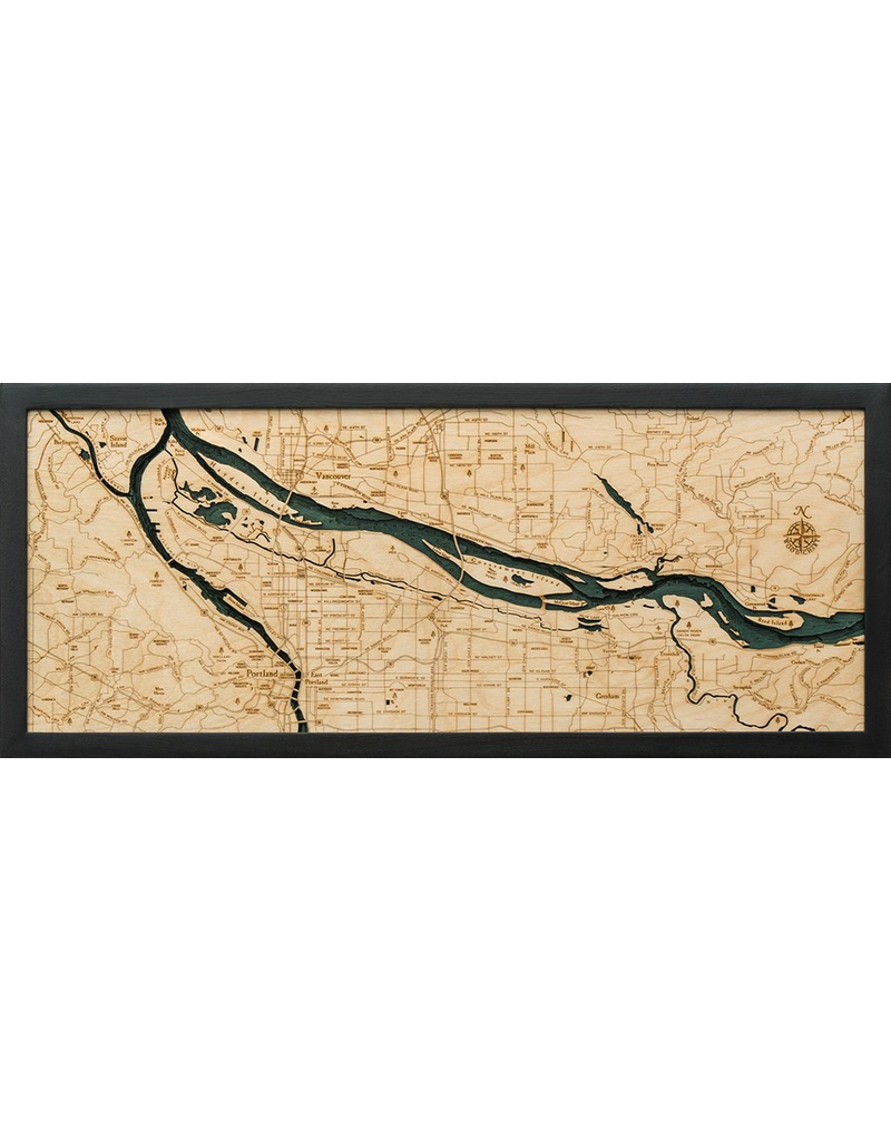 Wall Decor Portland 3D Wood Chart