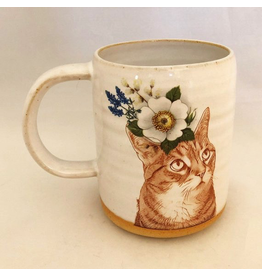 Mugs Cat Flower Mug