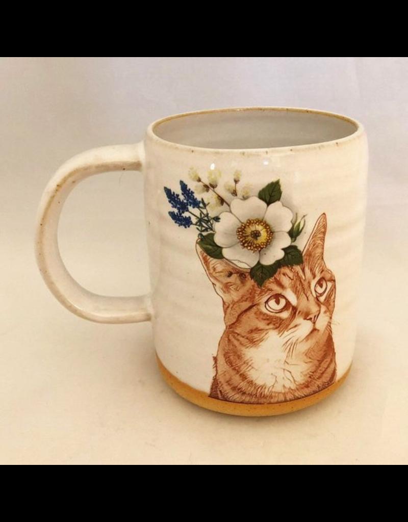 Mugs Cat Flower Mug
