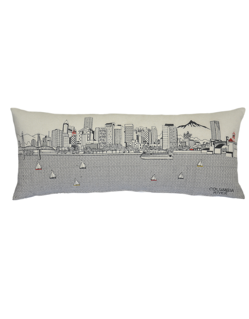 Pillows Portland Skyline Day Pillow
