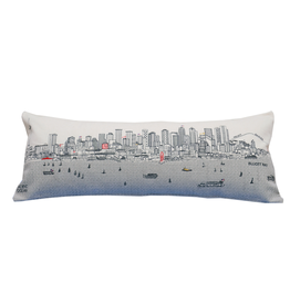 Pillows Seattle Skyline Day Pillow