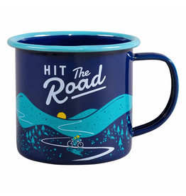 Enamelware Hit The Road Enamel Mug